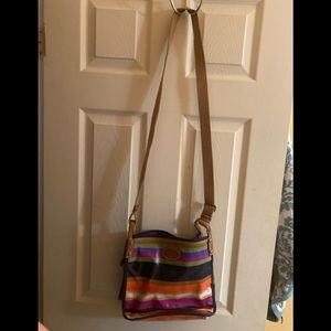 Fossil rainbow cross body purse